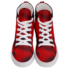 Red Black Abstract Men s Hi Top Skate Sneakers