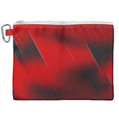Red Black Abstract Canvas Cosmetic Bag (xxl) by Simbadda