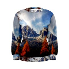 Dolomites Mountains Italy Alpine Women s Sweatshirt