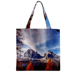 Dolomites Mountains Italy Alpine Zipper Grocery Tote Bag