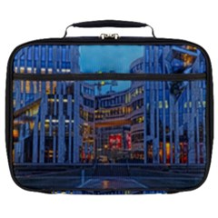 Architecture Modern Building Full Print Lunch Bag by Simbadda
