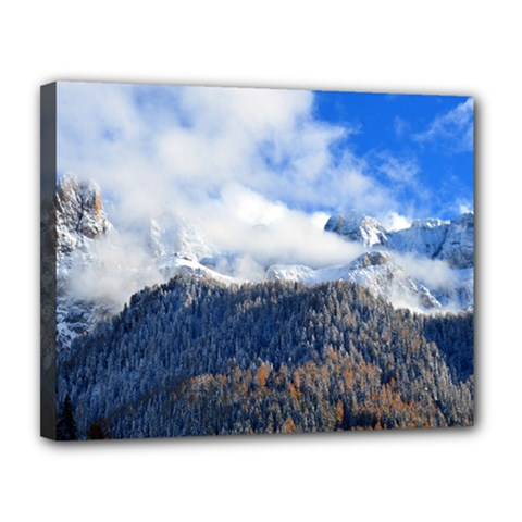 Mountains Alpine Nature Dolomites Canvas 14  X 11