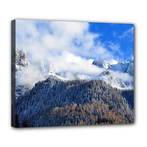 Mountains Alpine Nature Dolomites Deluxe Canvas 24  X 20