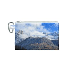 Mountains Alpine Nature Dolomites Canvas Cosmetic Bag (small) by Simbadda