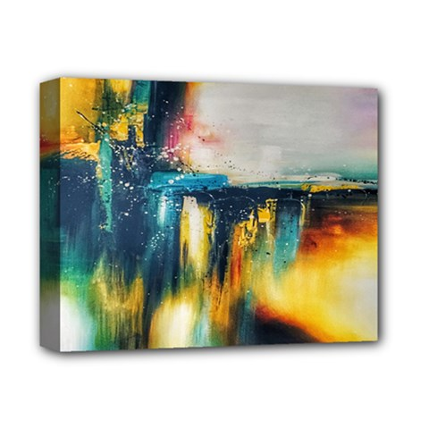Art Painting Abstract Yangon Deluxe Canvas 14  X 11