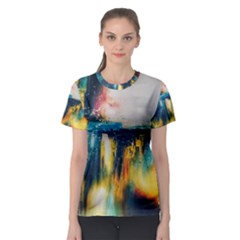 Art Painting Abstract Yangon Women s Sport Mesh Tee by Simbadda