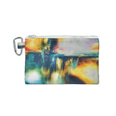 Art Painting Abstract Yangon Canvas Cosmetic Bag (small)