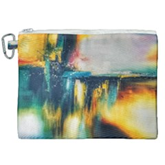 Art Painting Abstract Yangon Canvas Cosmetic Bag (xxl) by Simbadda