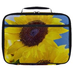 Sunflower Floral Yellow Blue Sky Flowers Photography Full Print Lunch Bag by yoursparklingshop