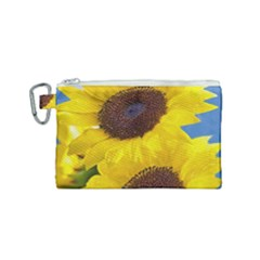 Sunflower Floral Yellow Blue Sky Flowers Photography Canvas Cosmetic Bag (small) by yoursparklingshop