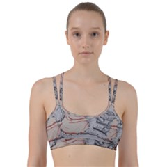 Hand Finger Drawing Fingernails Line Them Up Sports Bra by Simbadda
