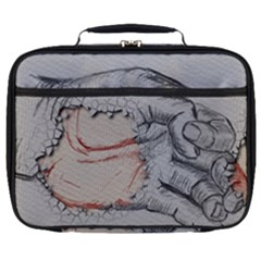 Hand Finger Drawing Fingernails Full Print Lunch Bag