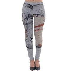 Hand Finger Drawing Fingernails Lightweight Velour Leggings