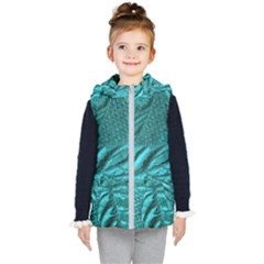 Background Texture Structure Kid s Hooded Puffer Vest