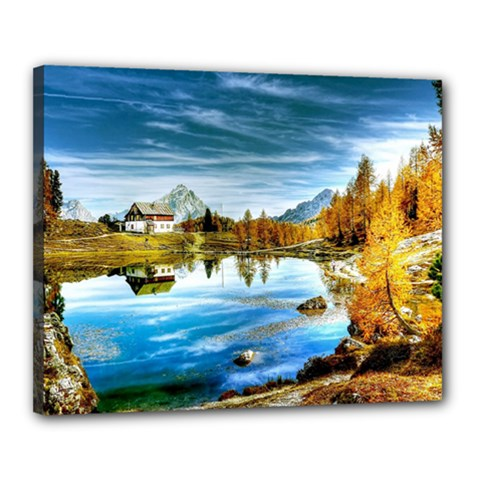 Dolomites Mountains Italy Alpin Canvas 20  X 16  by Simbadda