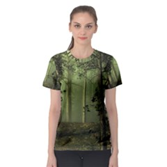 Forest Tree Landscape Women s Sport Mesh Tee by Simbadda