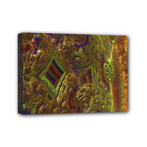 Fractal Virtual Abstract Mini Canvas 7  X 5  by Simbadda