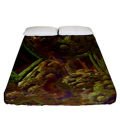 Fractal Virtual Abstract Fitted Sheet (king Size) by Simbadda