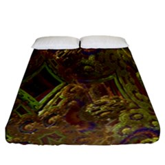 Fractal Virtual Abstract Fitted Sheet (california King Size)