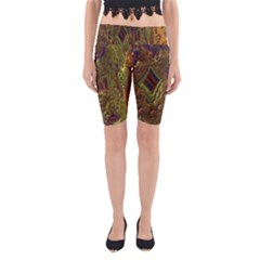 Fractal Virtual Abstract Yoga Cropped Leggings