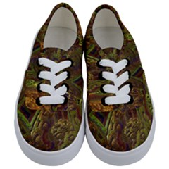 Fractal Virtual Abstract Kids  Classic Low Top Sneakers