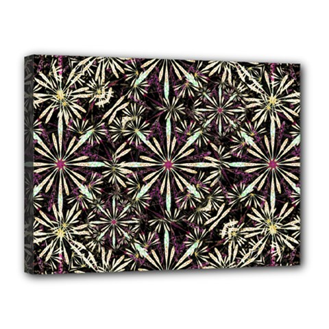 Dark Tropical Pattern Canvas 16  X 12  by dflcprints