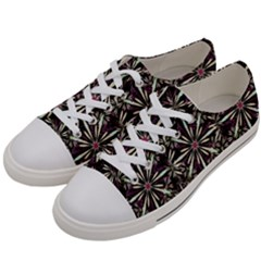 Dark Tropical Pattern Women s Low Top Canvas Sneakers by dflcprints