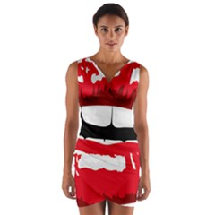 Sexy Lips Wrap Front Bodycon Dress by StarvingArtisan