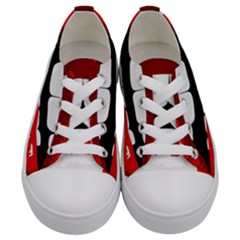 Sexy Lips Kids  Low Top Canvas Sneakers