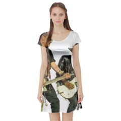 Rnr Short Sleeve Skater Dress