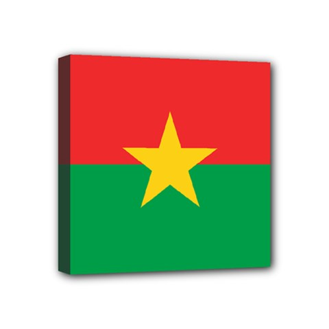 Flag Of Burkina Faso Mini Canvas 4  X 4