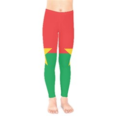 Flag Of Burkina Faso Kids  Legging by abbeyz71