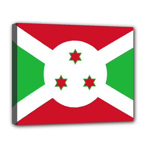 Flag Of Burundi Deluxe Canvas 20  X 16   by abbeyz71