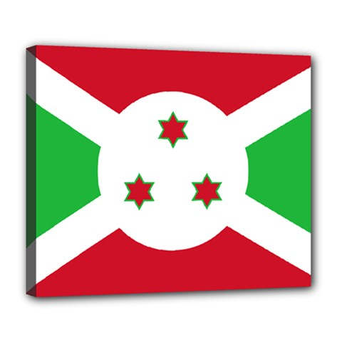 Flag Of Burundi Deluxe Canvas 24  X 20   by abbeyz71