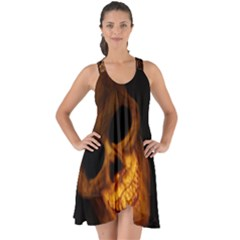 Skull Show Some Back Chiffon Dress
