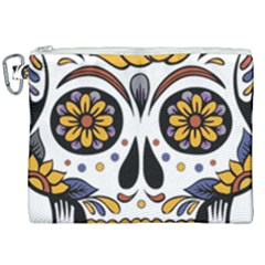Sugar Skull Canvas Cosmetic Bag (xxl) by StarvingArtisan