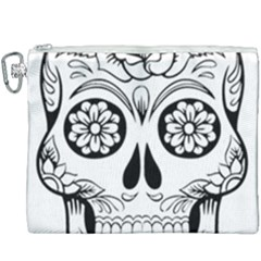 Sugar Skull Canvas Cosmetic Bag (xxxl) by StarvingArtisan