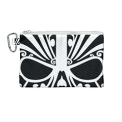 Tribal Sugar Skull Canvas Cosmetic Bag (medium)