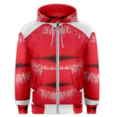 Oooooh Lips Men s Zipper Hoodie by StarvingArtisan