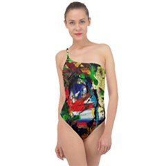 Catalina Island Not So Far 5 Classic One Shoulder Swimsuit