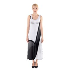 Music Note  Sleeveless Maxi Dress