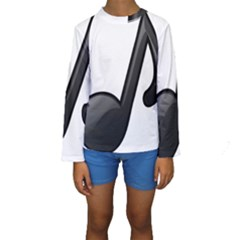 Music Note  Kids  Long Sleeve Swimwear