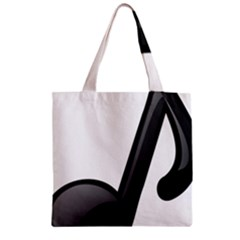 Music Note  Zipper Grocery Tote Bag