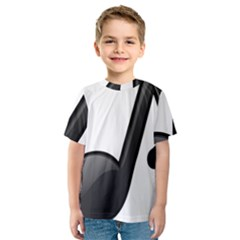 Music Note  Kids  Sport Mesh Tee