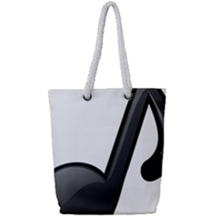 Music Note  Full Print Rope Handle Tote (small)