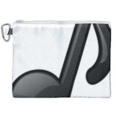Music Note  Canvas Cosmetic Bag (xxl)