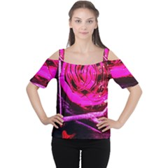 Calligraphy 2 Cutout Shoulder Tee by bestdesignintheworld