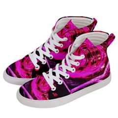 Calligraphy 2 Women s Hi Top Skate Sneakers by bestdesignintheworld