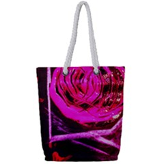 Calligraphy 2 Full Print Rope Handle Tote (small) by bestdesignintheworld