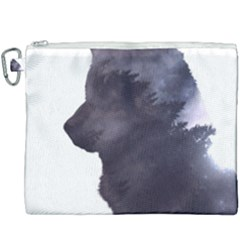 Black Wolf  Canvas Cosmetic Bag (xxxl) by StarvingArtisan